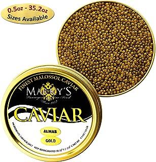 Marky's Premium Almas Osetra Sturgeon Black Caviar – 2 oz Malossol Almas Russian Ossetra Black Roe – GUARANTEED OVERNIGHT
