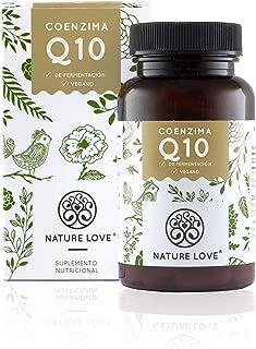 NATURE LOVE® Coenzima Q10 con 200mg por cápsula. 120 cápsulas duran 4 meses. Calidad premium: de origen vegetal, mediante un proceso de fermentación. Vegano, alta dosis, elaborado en Alemania.