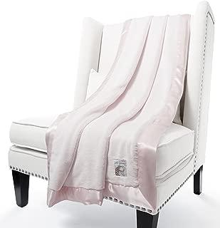 Giraffe at Home Luxe Plush Faux Fur Throw Blanket, Pink, 45