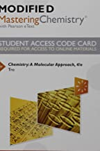 Modified Mastering Chemistry with Pearson eText -- Standalone Access Card -- for Chemistry: A Molecular Approach (4th Edition)
