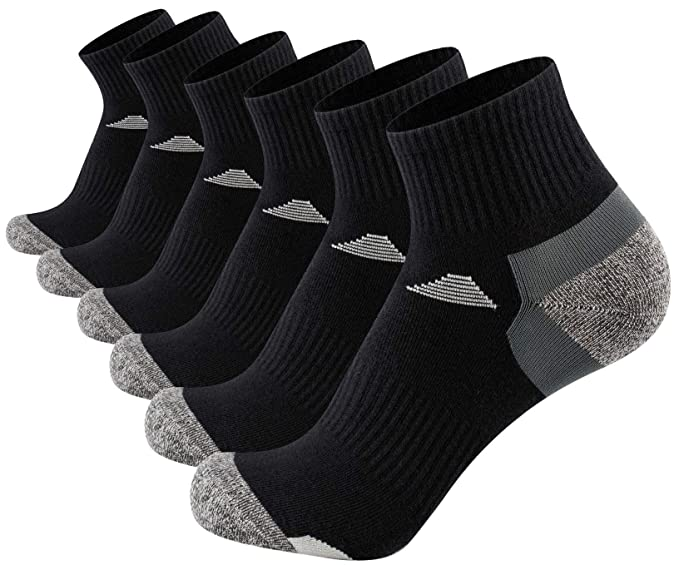 Aserlin Mens Athletic Socks Performance Cotton Cushioned Just Cover Above Ankle  Socks for Sport and Casual 6-Pack-6BSJX : Amazon.in: Clothing & Accessories