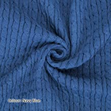 Neotrims Cable Twist Knit Fabric, Selvedge Edge 13 Colours, Knitted Sweater Style Cotton Feel Material. Superb cloth for Apparel, Accessories and to make Baby Wraps Blankets. Unique to Neotrims.