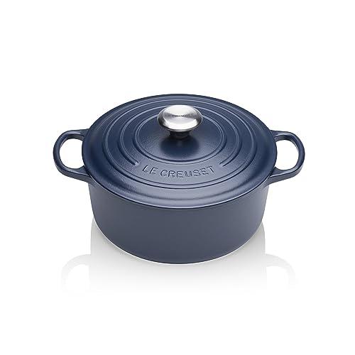 Le Creuset 21177245214430 Cocotte Ronde en Fonte Emaillée Signature 24cm, Navy Blue