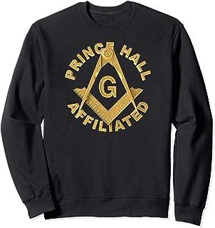 Masonic PHA Prince Hall Affiliated Square Compass Freemason Sweatshirt