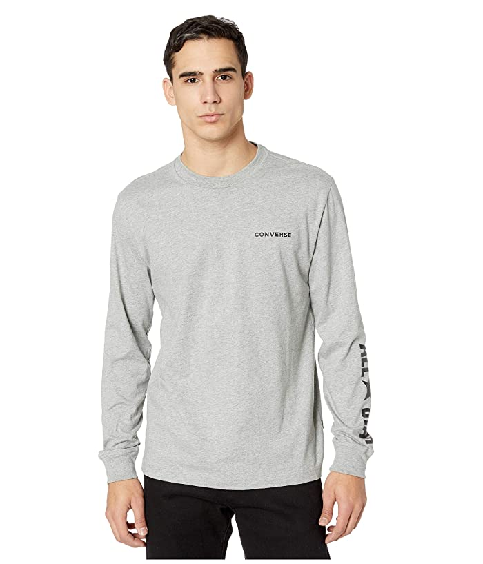 Converse  All Star Long Sleeve Cotton T-Shirt (Vintage Grey Heather) Mens T Shirt