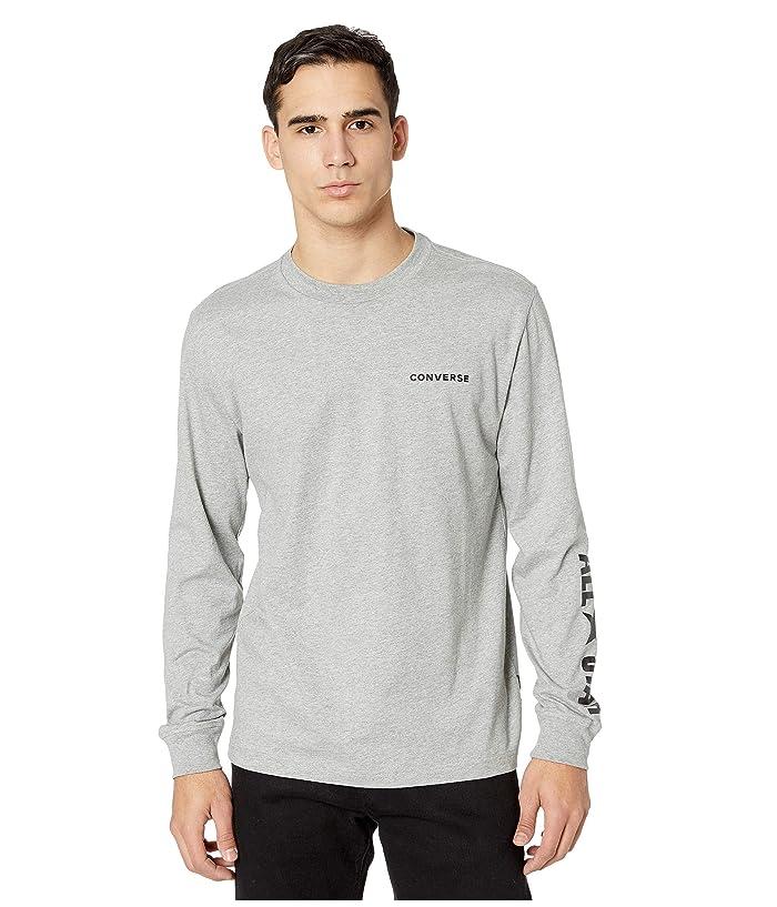 Converse  All Star Long Sleeve Cotton T-Shirt (Vintage Grey Heather) Mens T Shirt