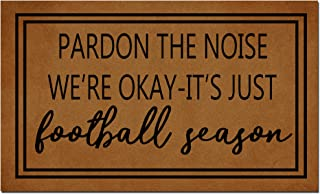 MOMOBO Funny Doormat Custom Indoor Doormat -Pardon The Noise Football Season Doormat Funny Front Mats Home and Office Deco...