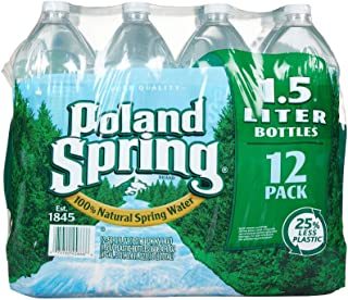 PolandSprings Spring Water, 12 Count, 50.7 Ounce