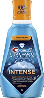 Crest Pro-Health Advanced Intense Mouthwash, Clean Mint, 1 L