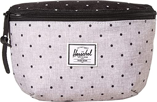 Polka Dot Crosshatch Grey/Black