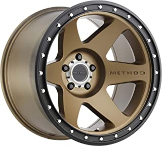 Method Race Wheels MR610 Con 6 BRONZE Wheel with Method Black Street LOC (0 x 10. inches /5 x 127 mm, -24 mm Offset)