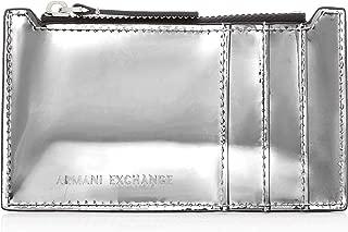 A|X Armani Exchange Metallic Credit Card Holder, argento