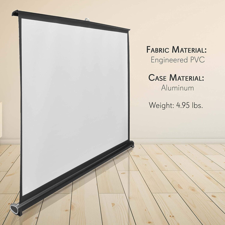 Buy Pyle 20 Inch Portable Projector Screen   Portable Floor ...
