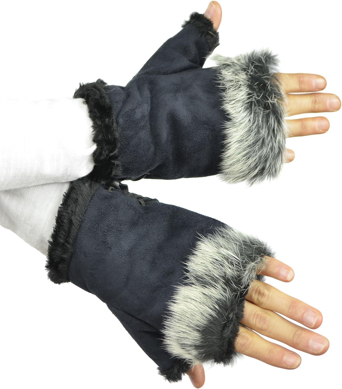 Belle Donne - Women's Warm Fingerless Soft Gloves Many Styles n Colors