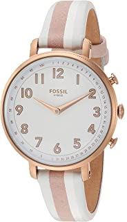 Fossil Women's Stainless Steel Hybrid Watch with Leather Strap, Multi, 14 (Model: FTW5049)