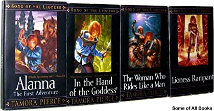 Song of the Lioness Boxed Set # 1- 4 (Song of the Lioness, #1 Alanna, #2 In the Hand of the Goddess, #3 Woman Who Rides Like a Man, #4 Lioness Rampant)