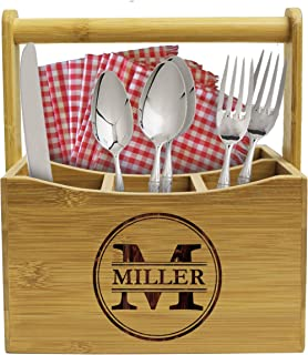 Personalized Kitchen Utensil Holder Picnic Caddy - Custom Monogrammed for Free