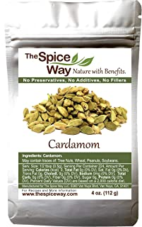 The Spice Way Cardamom Pods- | 4 oz | Whole Green Cardamom Pod