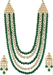 be386aa6be Shining Diva Fashion Latest Stylish 18k Gold Plated Kundan Wedding Party  Wear Necklace Set for Women