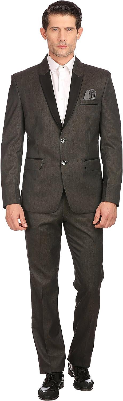 Satin Peak Collar Mens Partywear 2 Piece Suit