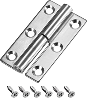 uxcell Lift Off Hinge Left Handedness Mini Stainless Steel Hinge Detachable Slip Joint Small Flag Hinges 50mm Long 36mm Open Width
