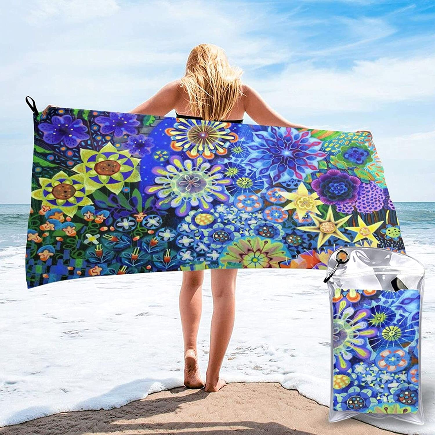 Zuxidsai Beach Towel Floral Boho Bohemian Max 40% OFF Quick Recommended Dry Tow Colorful