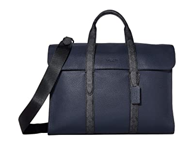 COACH Signature Metropolitan Portfolio (JI/Midnight Navy/Charcoal) Briefcase Bags