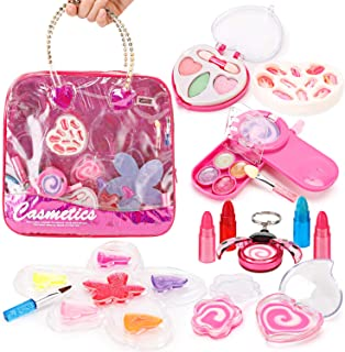 Liberty Imports Petite Girls Cosmetics Play Set - Washable and Non Toxic - Princess Real Makeup Kit with Case - Ideal Gift...