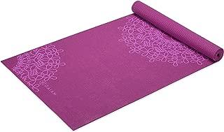 Gaiam Yoga Mat - Classic 4mm Print Thick Non Slip...