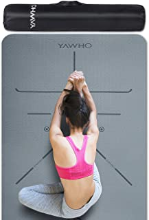 comprar comparacion YAWHO Colchoneta de Yoga Esterilla Yoga Material medioambiental TPE,Modelo:183cmx66cm Espesor:6milímetros,Tapete de Deport...