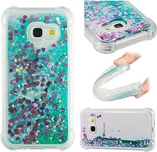 15842ef81d7 LuckyW Funda para Samsung A3 2017 Líquida, TPU Silicona Brillante Glitter  Bling Transparente Carcasa para