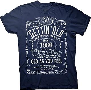 54th Birthday Gift T-Shirt - Gettin' Old Pissy Cranky 1966