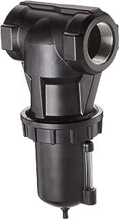 Parker F602-16WJR Compressed Air Filter, Metal Bowl with Sight Gauge, Auto Drain, 40 Micron, 1200 scfm, 2