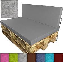 Variante:1x Cuscino seduta 120x80 cm Cuscino per divano in palet esterno Outdoor allo sporco Colore:Antracite Schienale o Sedile resistente all acqua