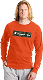 Champion Men's Classic Long Sleeve Tee, Graphic Script