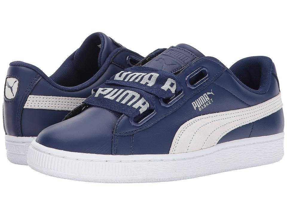 PUMA Basket Heart Denim (Blue Depths/Puma White) Women