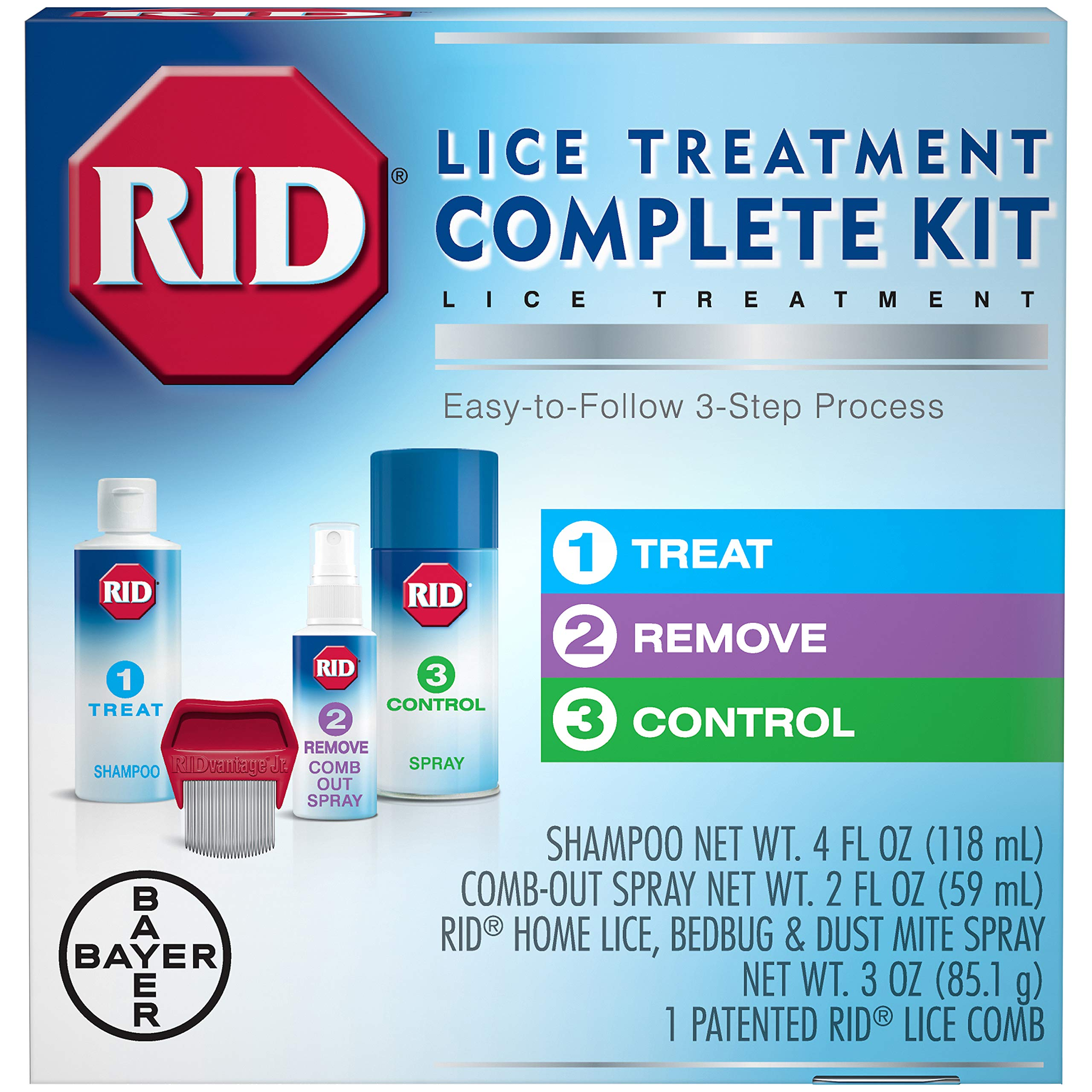 RID Lice Treatment Complete Killing Comb Out
