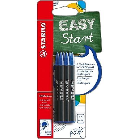 Cartuccia Refill per Penna Roller Ergonomica - STABILO EASYOriginal - Pack da 6 - Colore Blu