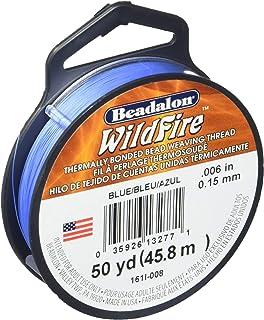 Beadalon Wildfire 0.006 بوصة أزرق 50 ياردة خيط مربوط حراريا