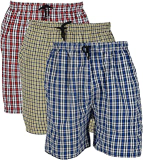 River Hill Men's Red, Blue,Yellow, Cotton Boxers (Pack of 3)