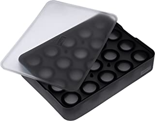 Lurch Ice Former 系列高级制冰盒 硅胶材质 带盖 可制作 20 个 3 厘米的冰块 黑色 3.5 × 15.5 × 20.5 厘米
