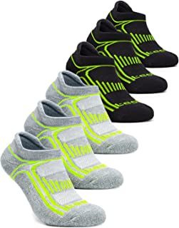TSLA Men & Women 6-Pairs Athletic Performance Running No Show Active Socks
