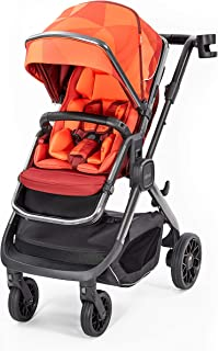 Diono Quantum2, 3-in-1 Luxury Multi-Mode Stroller, Orange Facet