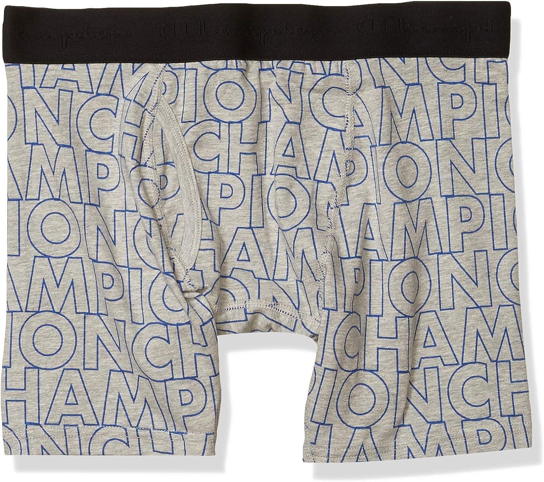Champion Men's Block Printed Boxer Brief