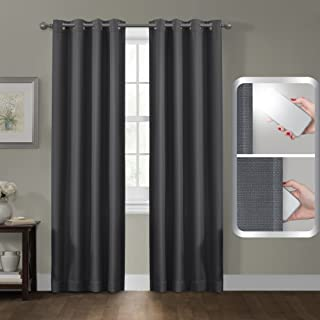 Maytex Smart Curtains Sheridan 100 Percent Blackout Window Panel, 50 x 84, 50 inches x 84 inches, Grey