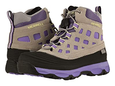 Merrell Kids Thermoshiver 2.0 Waterproof (Little Kid/Big Kid) (Grey/Purple) Girls Shoes
