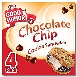 Good Humor Ice Cream & Frozen Desserts Sandwich, Chocolate Chip Cookie, 4 ct