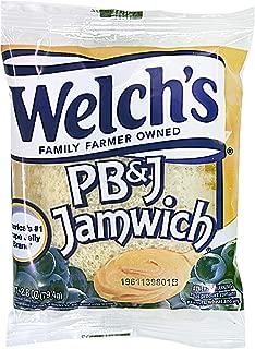 Welch's PB & Jamwich, Peanut Butter & Grape Jelly on Crustless Whole Grain Bread, 2.8 oz. (72 Count)