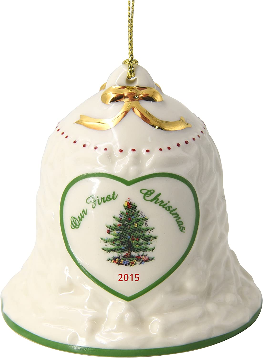 Spode Our First Christmas Bell Annual safety Tree Sale special price 2015 Ornament