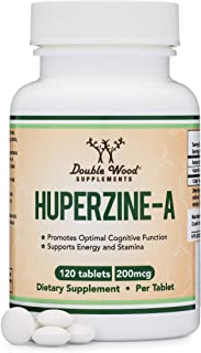 Huperzine A 200mcg (Third Party Tested) Made in The USA, 120 Tablets, Nootropics Brain Supplement to Promot...